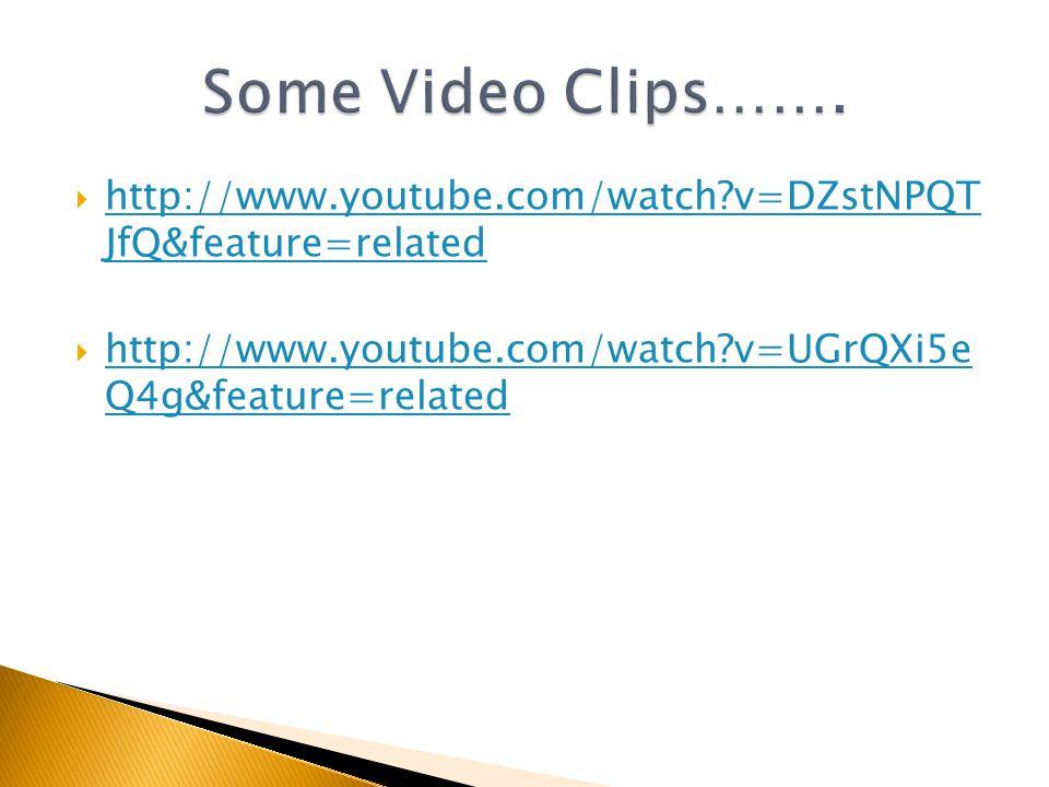  http://www.youtube.com/watch v=DZstNPQT JfQ&feature=related http://www.youtube.com/watch v=DZstNPQT JfQ&feature=related  http://www.youtube.com/watch v=UGrQXi5e Q4g&feature=related http://www.youtube.com/watch v=UGrQXi5e Q4g&feature=related