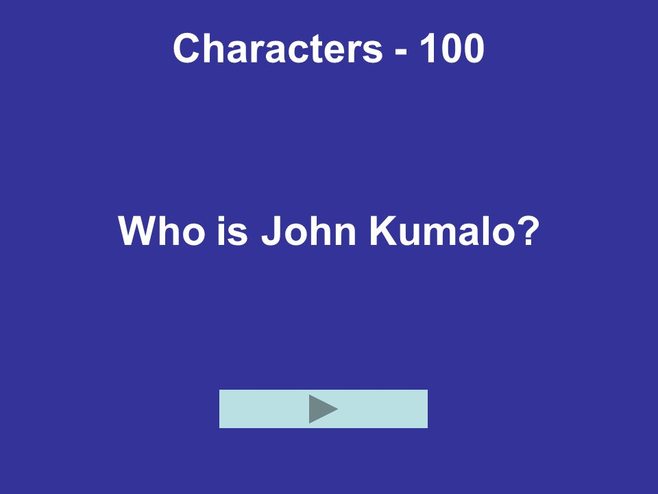 Events - 100 Who is Absalom Kumalo?
