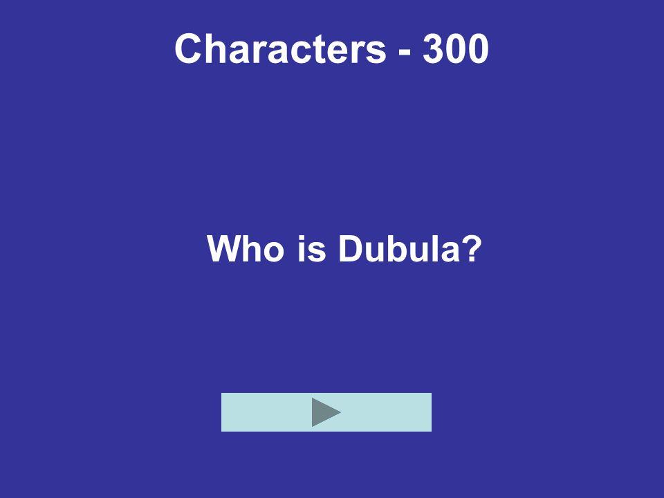 Characters - 300 Who is Dubula?