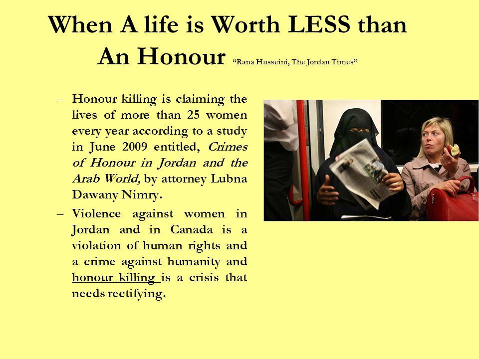 What Are Honour Killings.