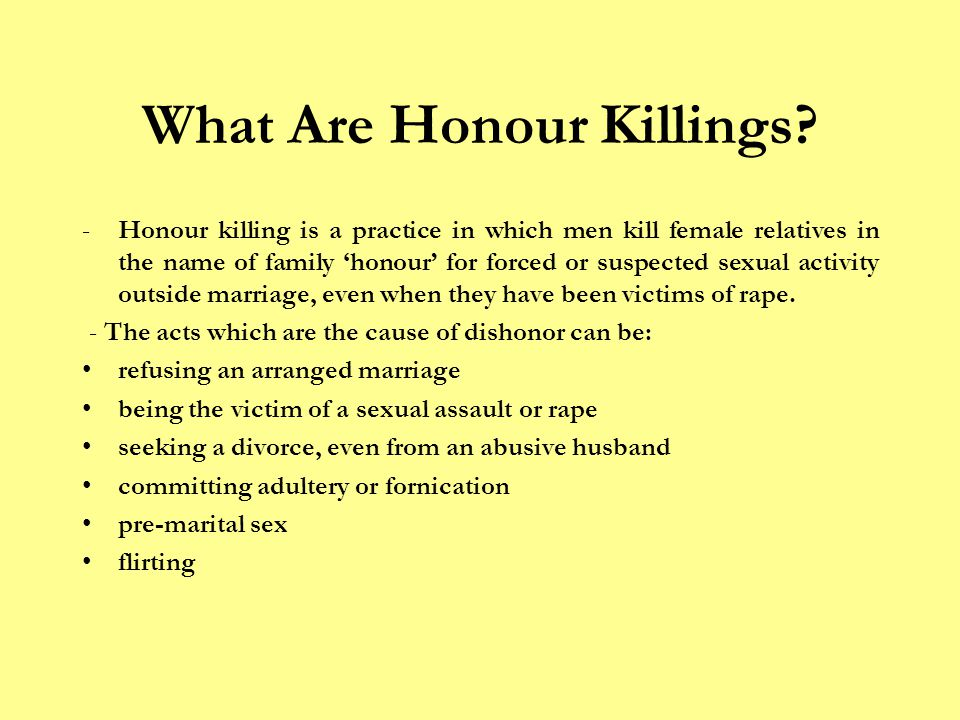 What Are Honour Killings.