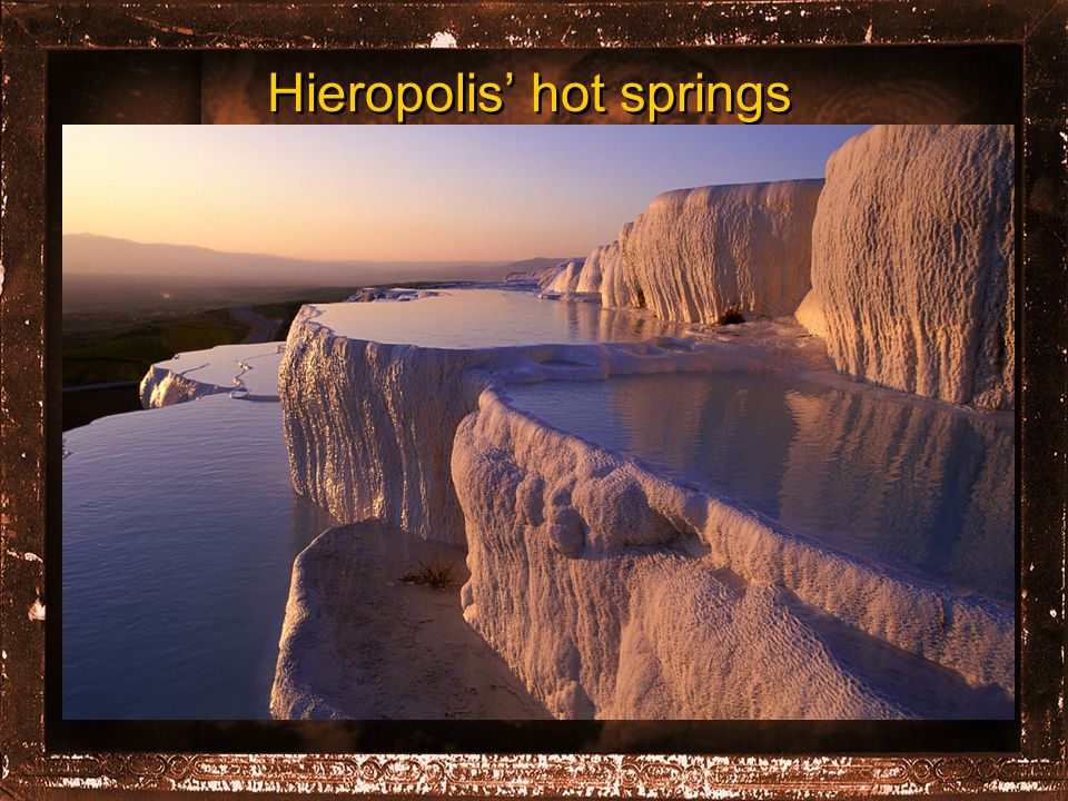 Hieropolis' hot springs