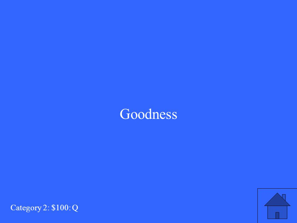 What does Elizabeth say John has at the end of the play? Category 2: $100: A