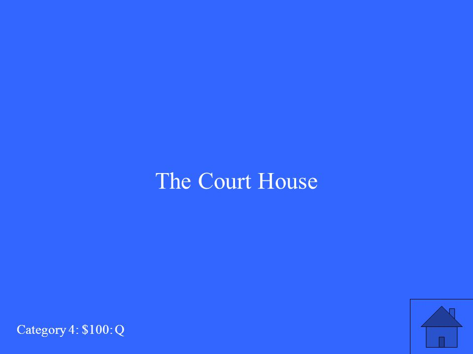 What is the setting of Act III? Category 4: $100: A