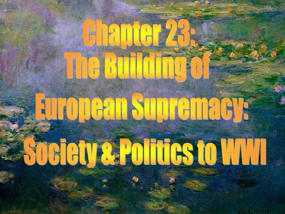 Chapter 23 Key Topics KEY TOPICS The transformation of European life by the Second Industrial Revolution Urban sanitation, housing reform, and the redesign of cities The condition of women in late nineteenth- century Europe and the rise of political feminism The emancipation of the Jews The development of labor politics and socialism in Europe to the outbreak of World War I Industrialization and political unrest in Russia