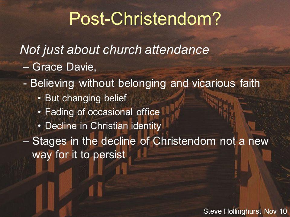Steve Hollinghurst Nov 10 Consumer Christianity.God the cosmic therapist.
