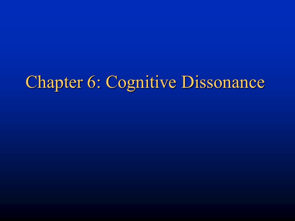 Practical applications of dissonance theory: (e.g.