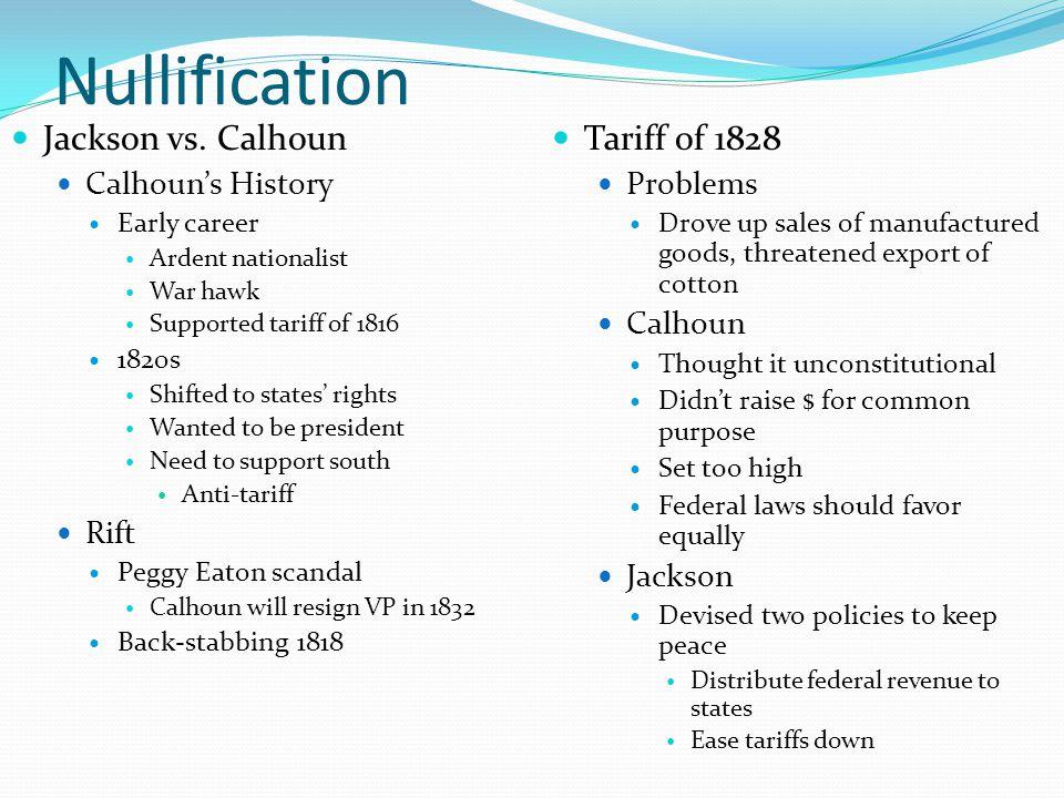 Nullification Jackson vs.
