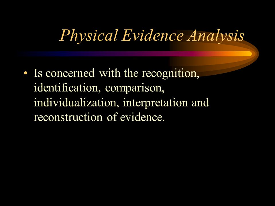 Forensic Science: the application of natural sciences to matters of the law.