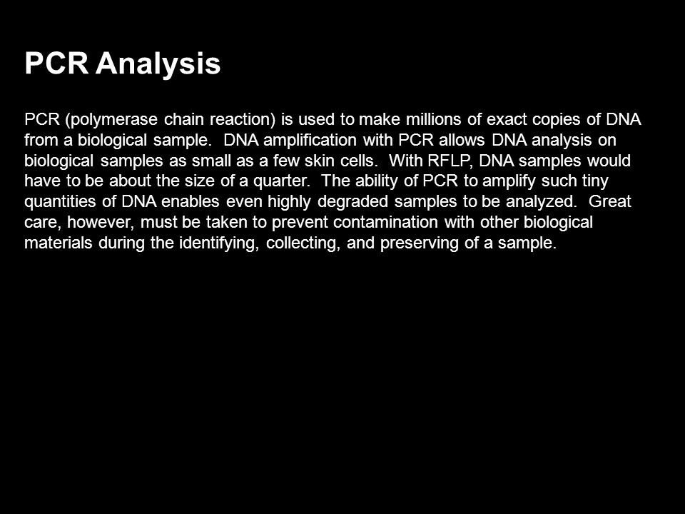 Restriction Fragment Length Polymorphism (RFLP) RFLP is a technique for analyzing the variable lengths of DNA fragments that result from digesting a D