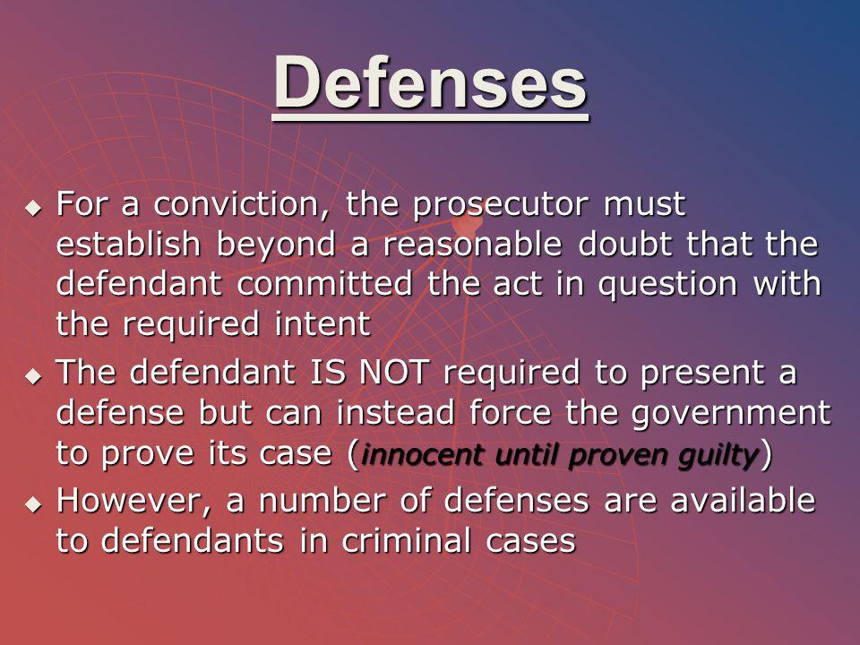 Defenses (continued) 1.1.Entrapment 1. 1.