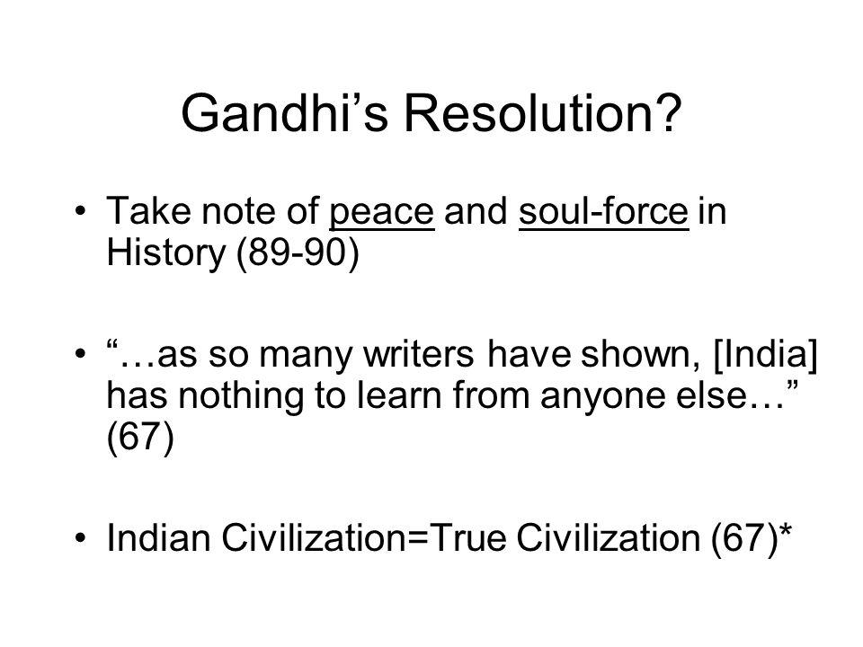 Gandhi's Resolution.
