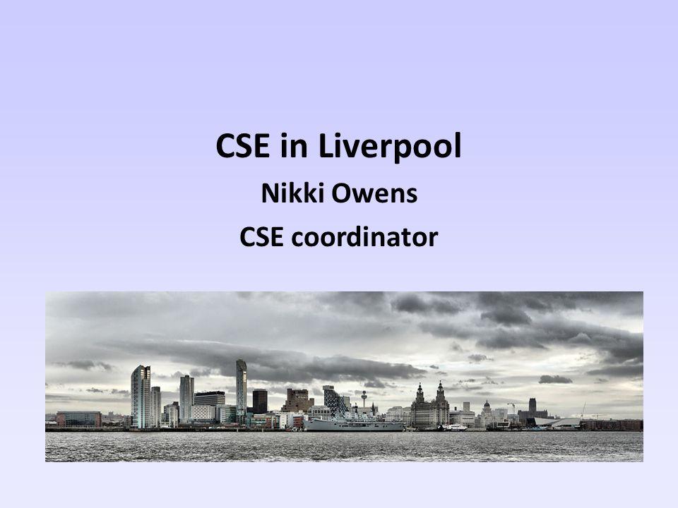 CSE in Liverpool Nikki Owens CSE coordinator