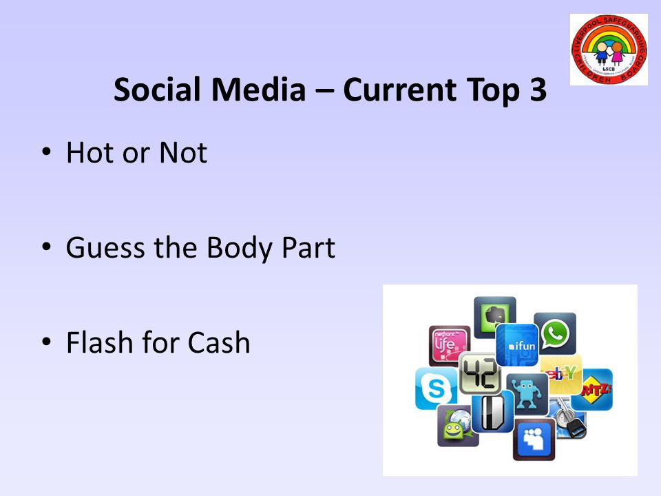 Social Media – Current Top 3 Hot or Not Guess the Body Part Flash for Cash