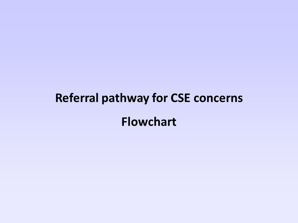 Referral pathway for CSE concerns Flowchart