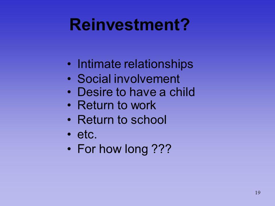 Reinvestment.