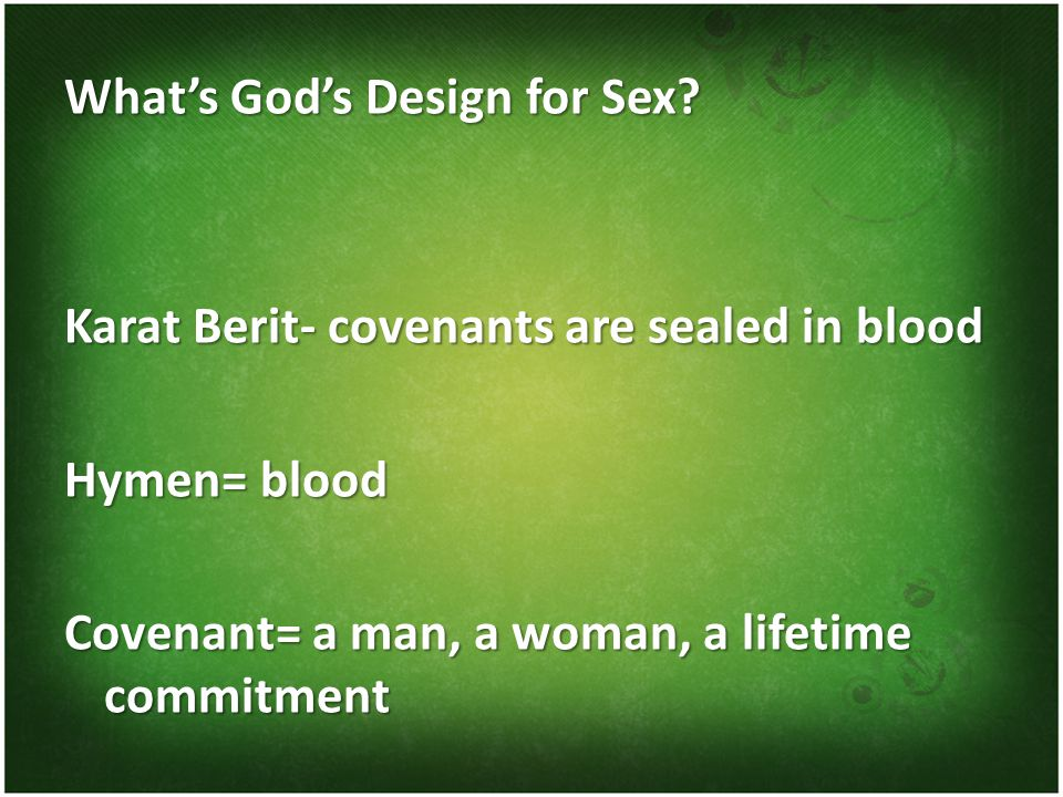 What's God's Design for Sex.