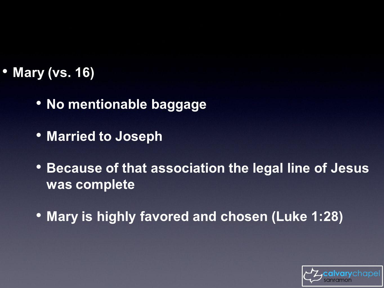 Mary (vs.