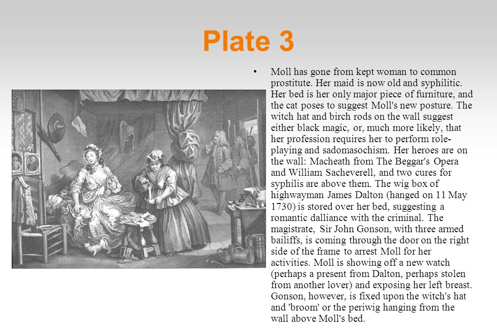 Plate 3 Moll has gone from kept woman to common prostitute.