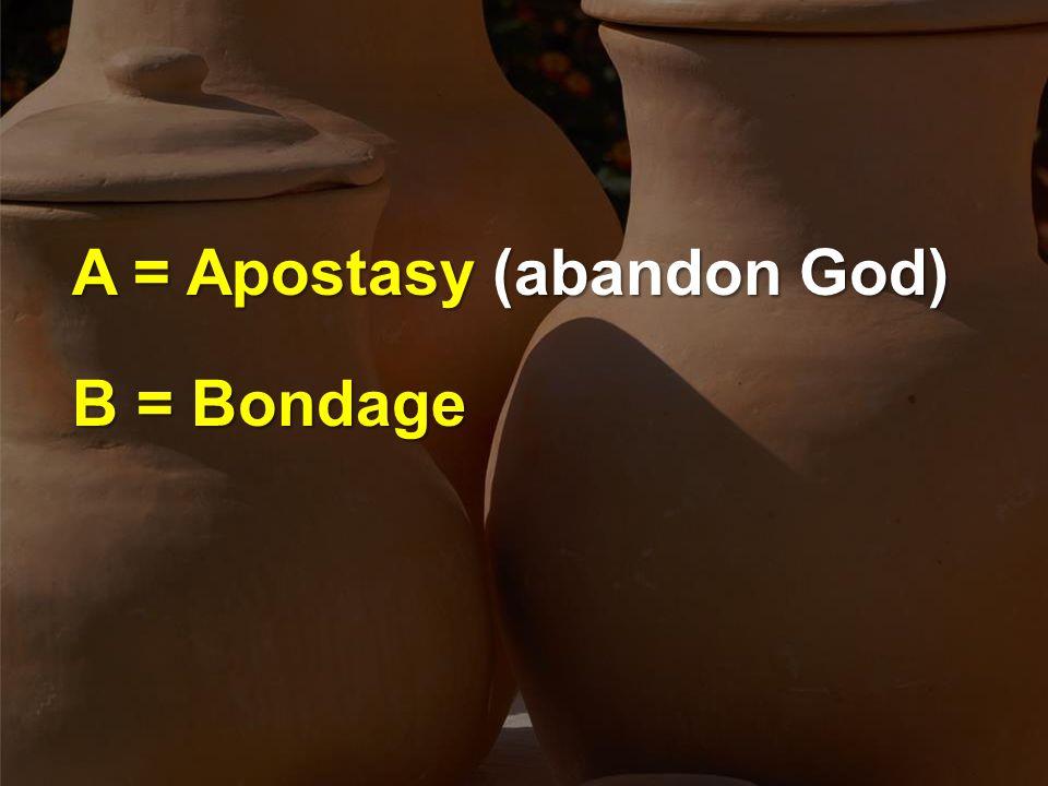 A = Apostasy (abandon God) B = Bondage