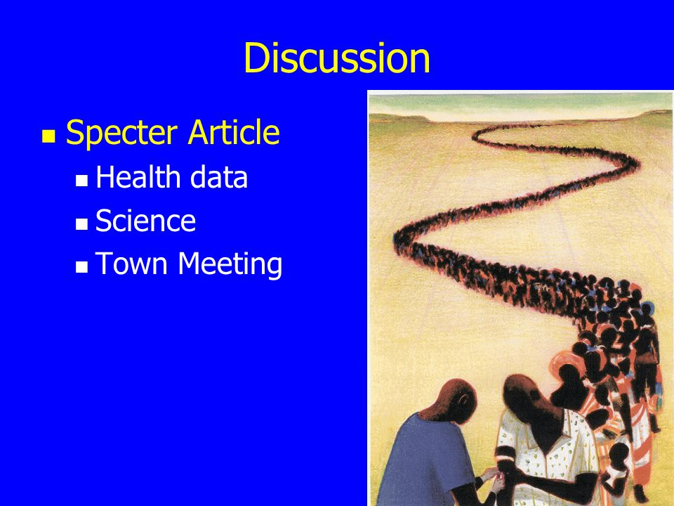 Discussion Specter Article Health data Science Town Meeting