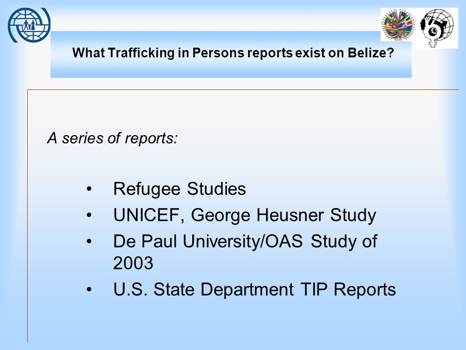 What Trafficking in Persons reports exist on Belize.