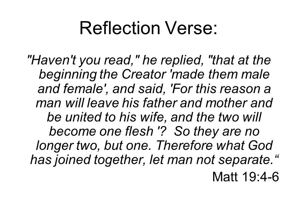 Reflection Verse: