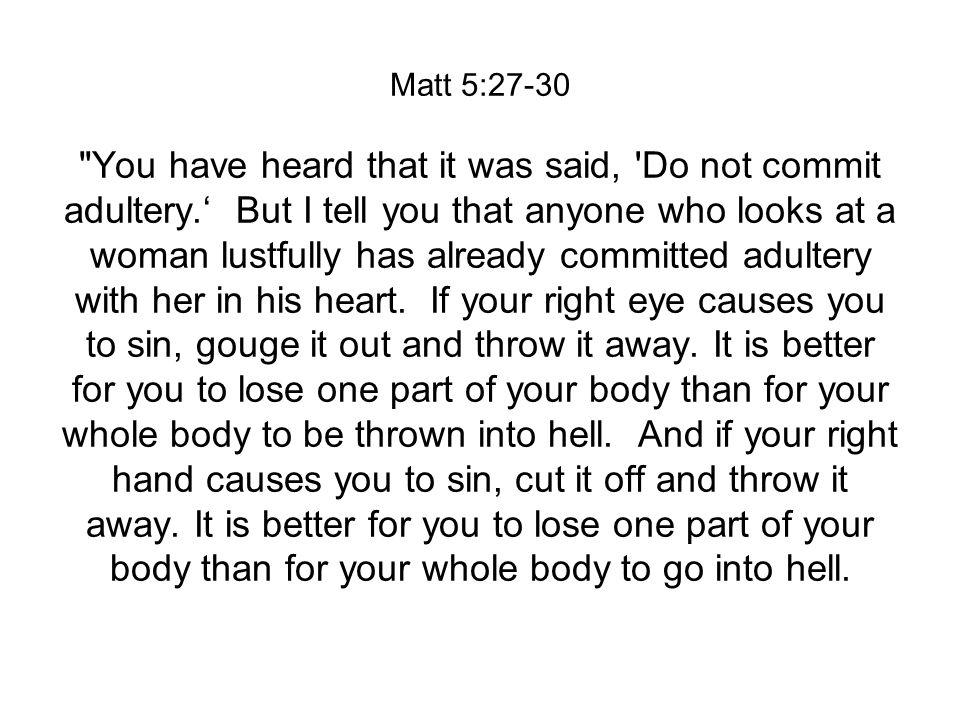 Matt 5:27-30