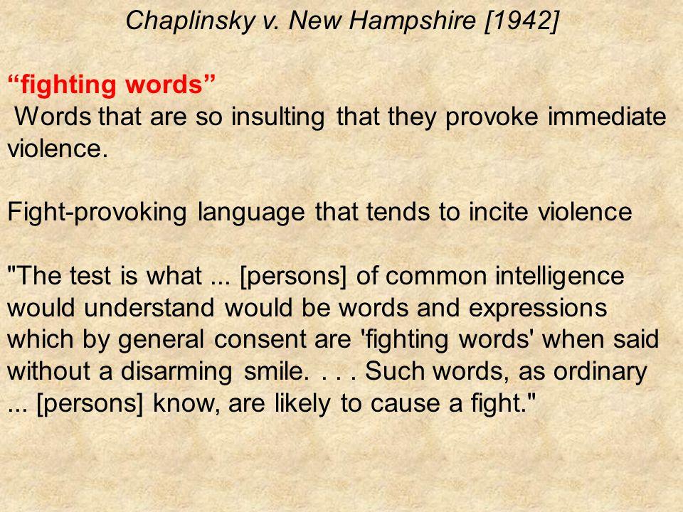 Chaplinsky v.