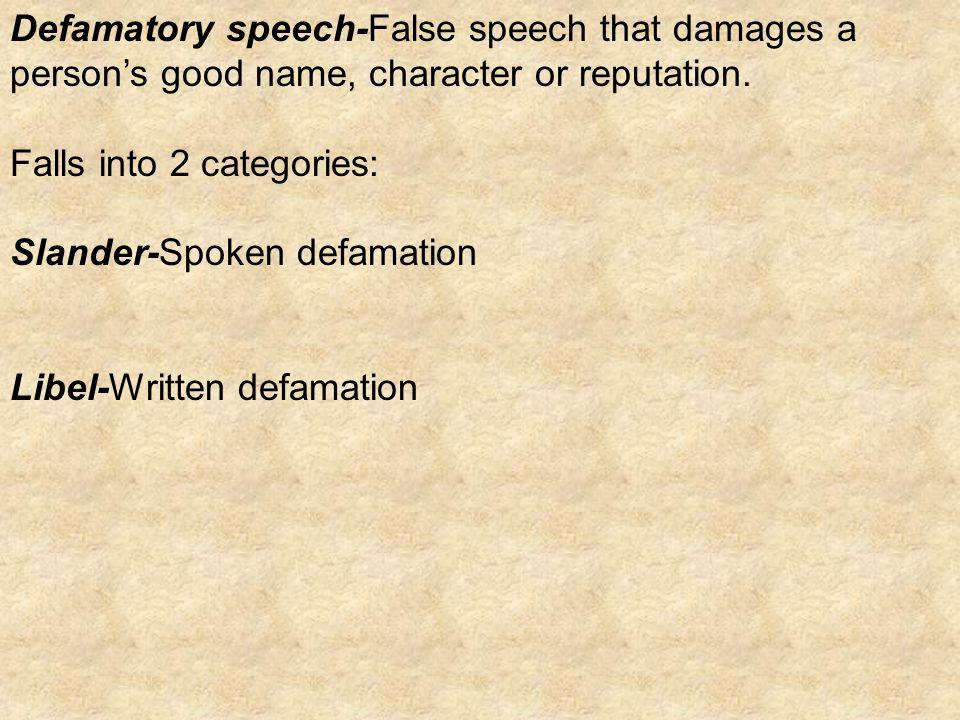 Defamation: Public v. Private Person
