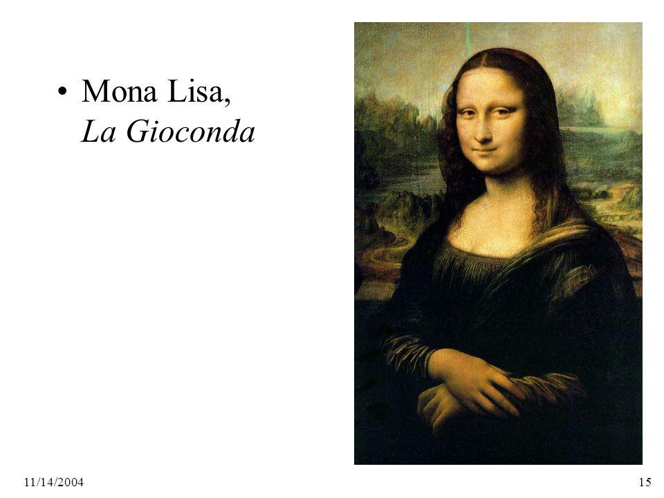 11/14/200415 Mona Lisa, La Gioconda