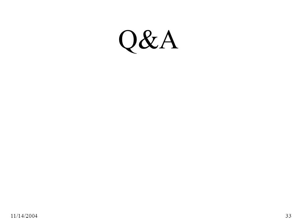 11/14/200433 Q&A