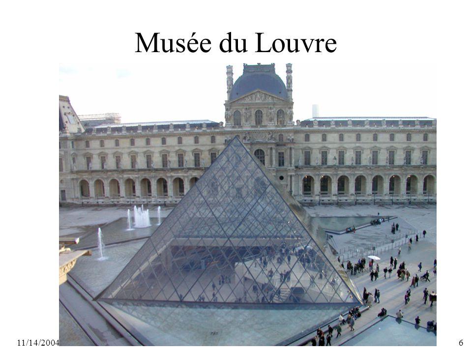 11/14/20046 Musée du Louvre