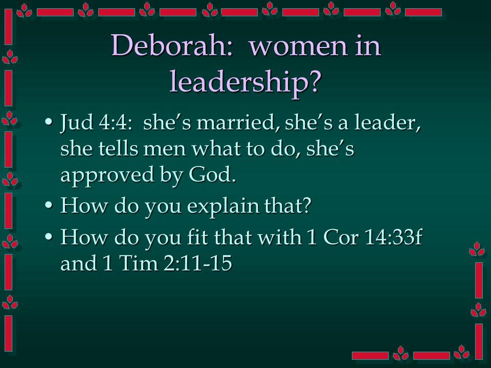 Deborah: women in leadership.
