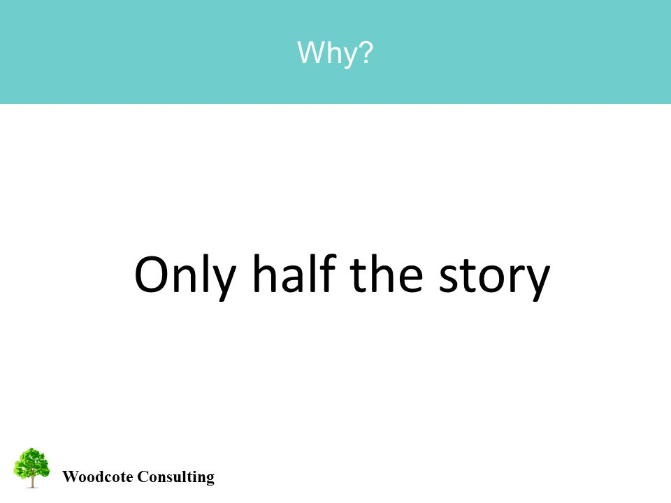 Woodcote Consulting Why Only half the story