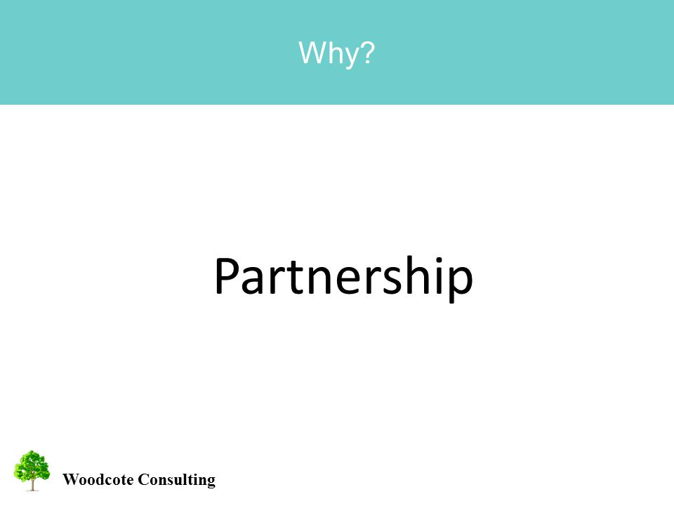 Woodcote Consulting Why Partnership