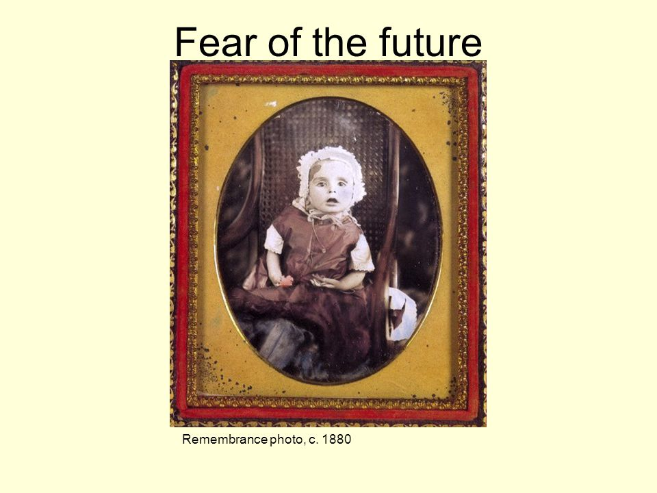 Fear of the future Remembrance photo, c. 1880
