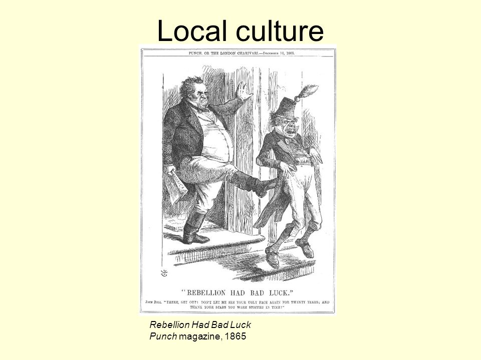 Local culture Rebellion Had Bad Luck Punch magazine, 1865