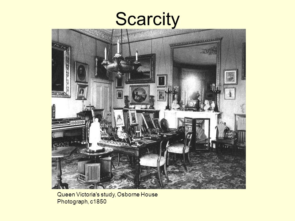 Scarcity Queen Victoria s study, Osborne House Photograph, c1850