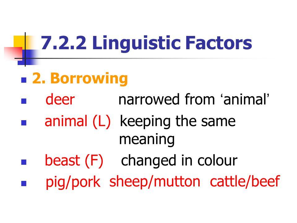 7.2.2 Linguistic Factors 2.