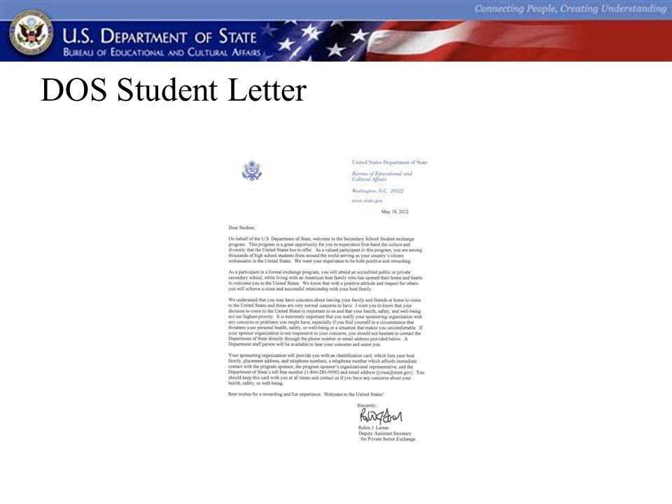 DOS Host Family Letter