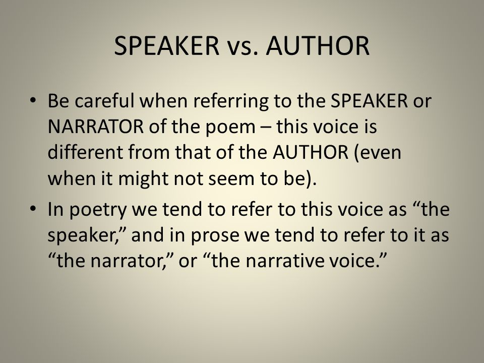 SPEAKER vs.