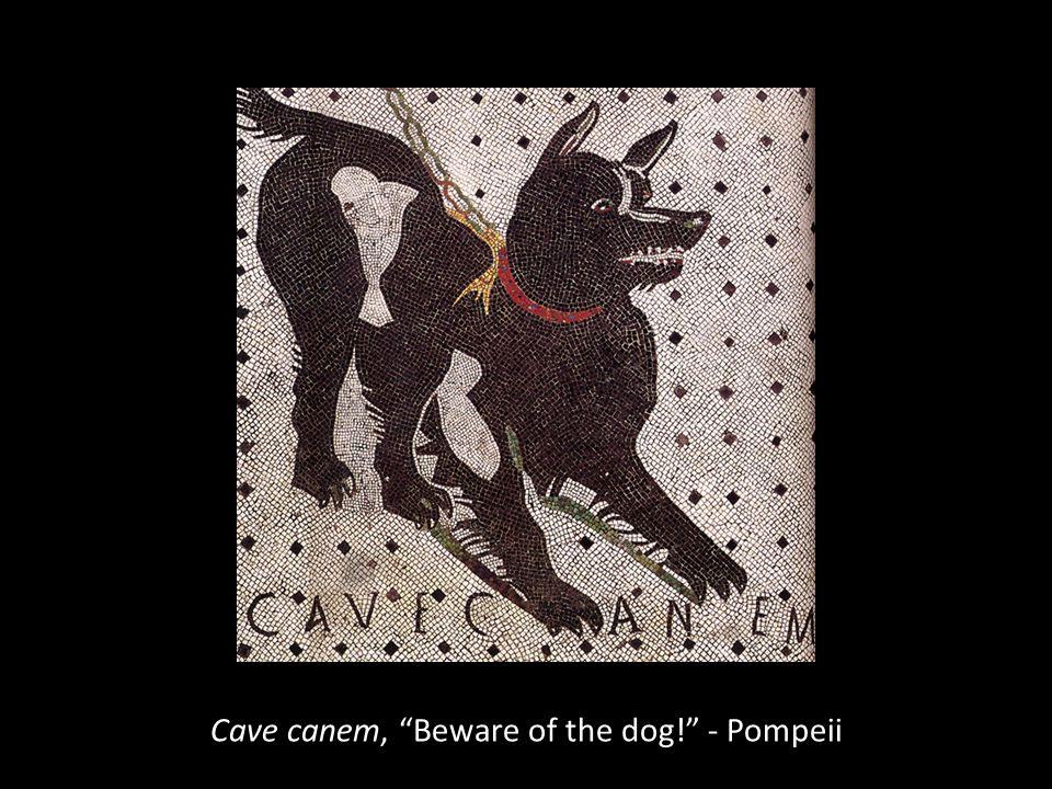 """Cave canem, """"Beware of the dog!"""" - Pompeii"""