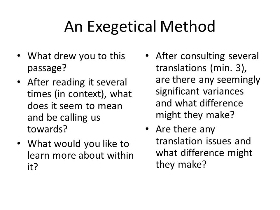 An Exegetical Method Are there any images that can identify for further exploration.