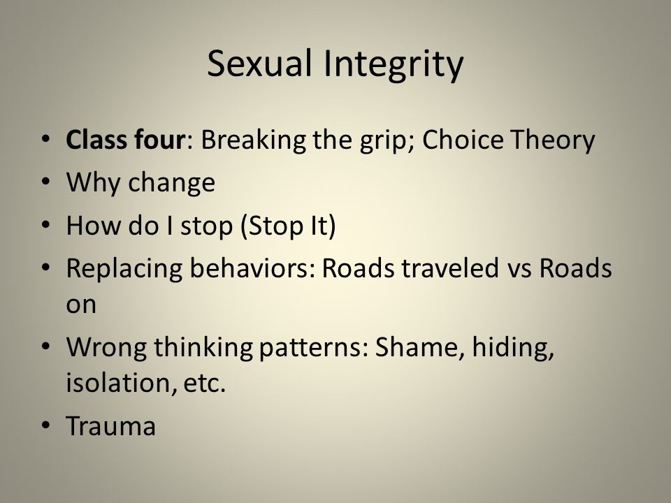 Sexual Integrity Class Three- Commercial Sex Who are the victims.