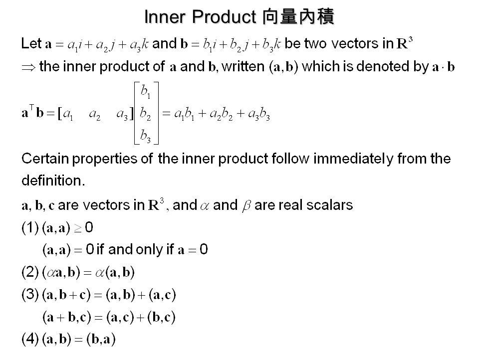 Inner Product 向量內積