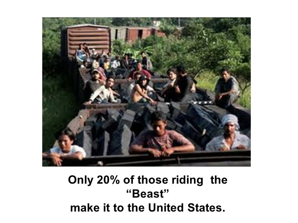 Only 20% of those riding the Beast make it to the United States.