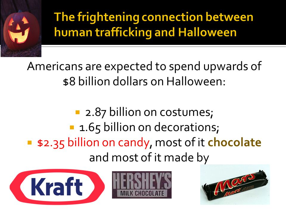 Americans are expected to spend upwards of $8 billion dollars on Halloween:  2.87 billion on costumes;  1.65 billion on decorations;  $2.35 billion