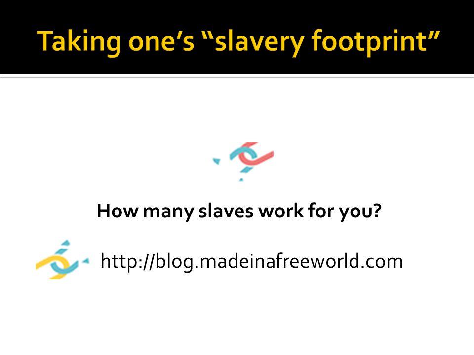 How many slaves work for you? http://blog.madeinafreeworld.com