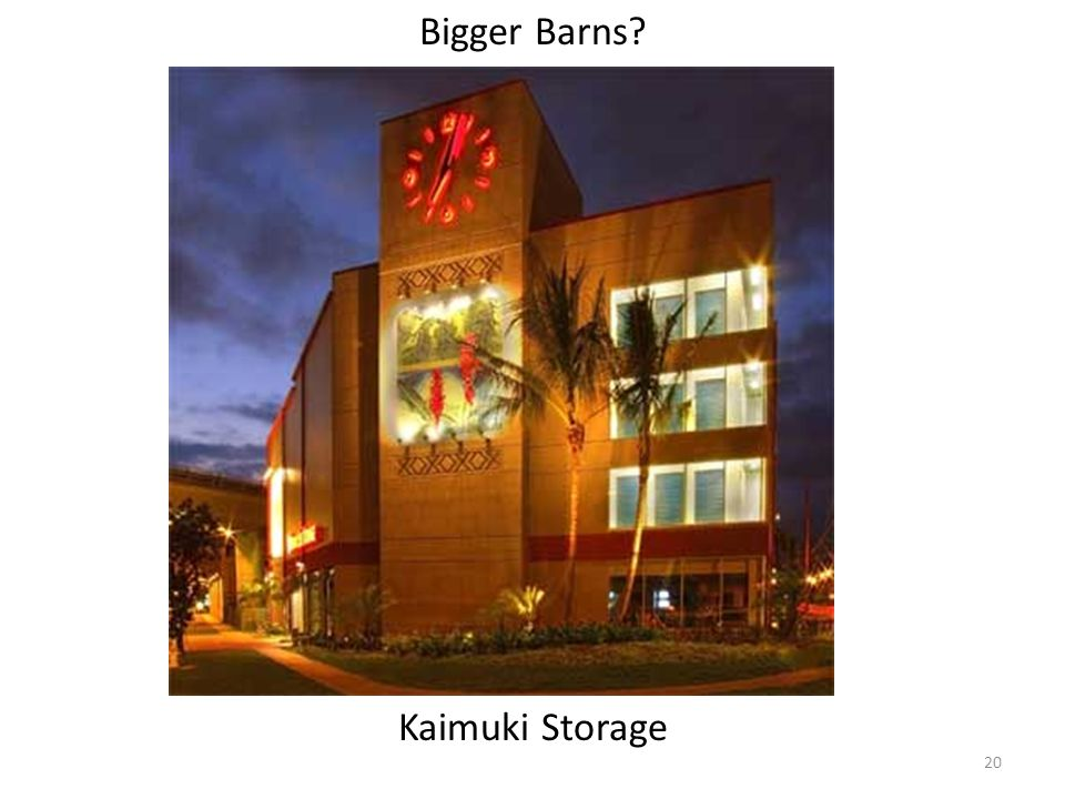 Bigger Barns? Kaimuki Storage 20